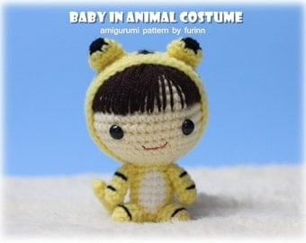 INSTANT DOWNLOAD Amigurumi Pattern Baby in Tiger Costume/ Chinese Zodiac Tiger