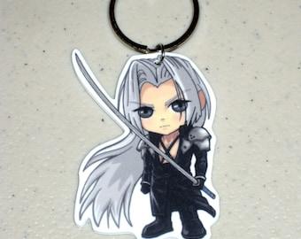 Chibi Sephiroth Charm - Final Fantasy VII / Advent Children Keychain