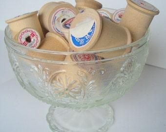 Vintage Glass Pedestal Dish, Clear Glass Pedestal Candy Dish