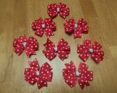 8pc unfinished polka dot bows