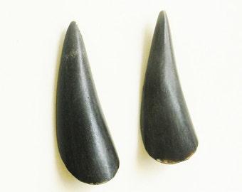 Antique Bone Earrings Organic Solid