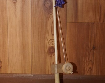 Wooden Toy Fishing Pole With Fabric Fish