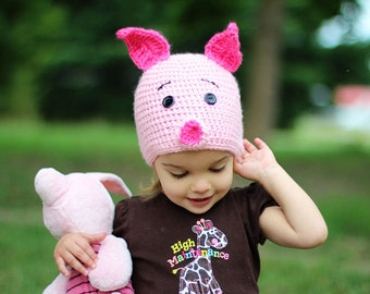 Piglet Hat - Made to Order