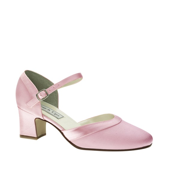 items similar to pink wedding shoes low heel 1 75 inch