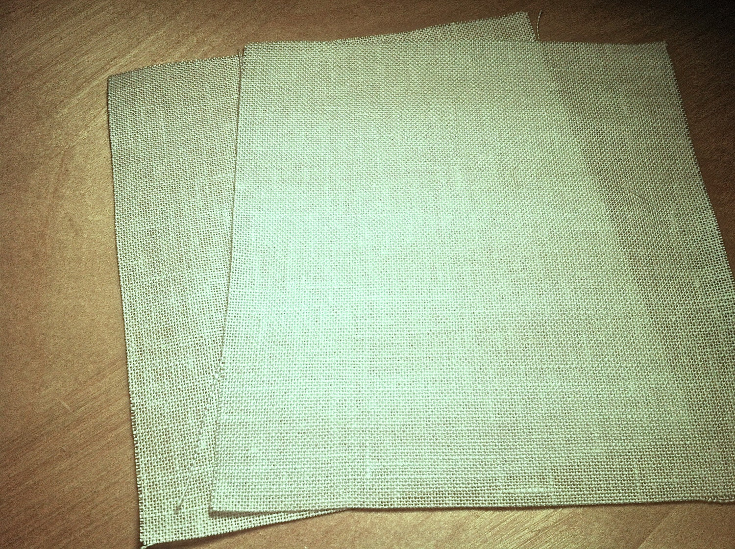 Linen embroidery fabric for silk ribbon