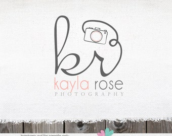 Customized Premade Photography Logo -  Initials & Camera Logo and Watermark Design Logo