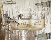 Etsy Banner premade banner Etsy White Cottage Chipped six piece store design Rustic