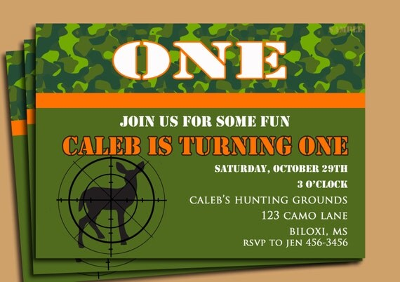 Camouflage Birthday Invitations