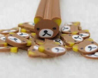 cute polymer clay cane bear miniature scrapbooking kawaii decoration nail art decoden craft supply