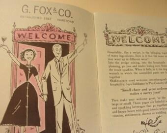 Vintage  cook book Taylor Wine