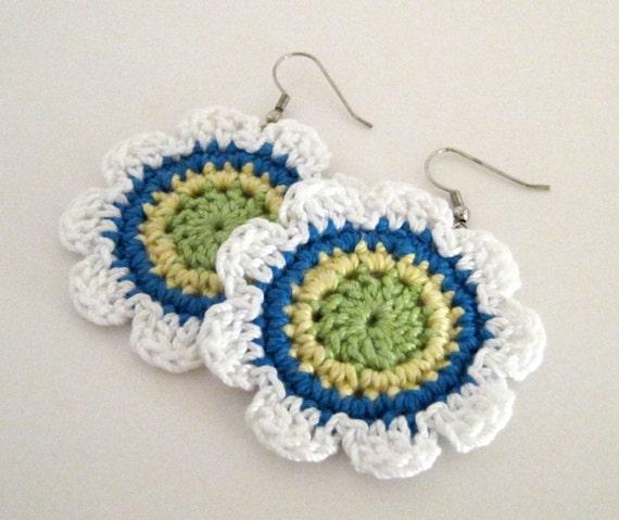 Flower Power Crochet Earrings