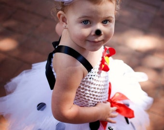 101 dalmatians inspired tutu dress ans costume