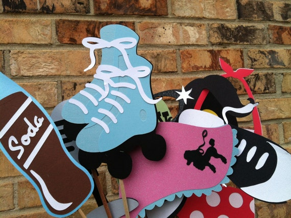 SOCK HOP nifty fifty photo booth props, soda shop sock hop photo booth props