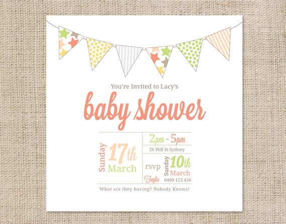 free baby shower invitations templates pdf - unavailable listing on etsy