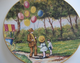 Vintage The Balloon Man Collectors Plate 1979