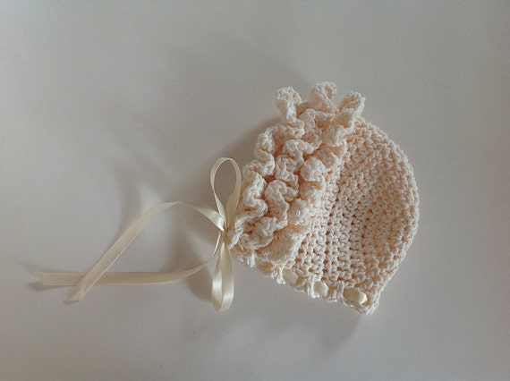 Crochet pattern for ruffled baby bonnet hat 4 sizes baby to crochet pattern for ruffled baby bonnet hat 4 sizes baby to toddler welcome to sell finished items dt1010fo