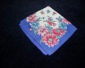 Vintage Hankie Hanky Handkerchief Floral Flowers Daisies    3014