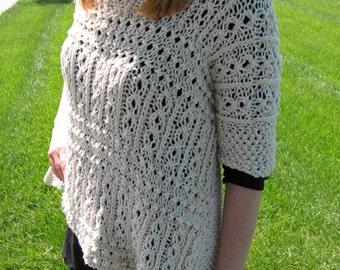 Victorian Lace Ponchette pattern---PDF