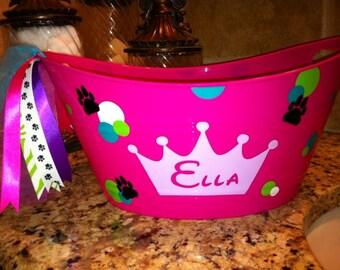 Personalized Dog Bucket - Cat Bucket - Dog Toy Bucket - Cat Toy Bucket -Doggie Treats - Cat Treats - Dog Accessories