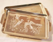 Vintage Admiration Products 4x6 Aluminum Trays Embossed Cranes