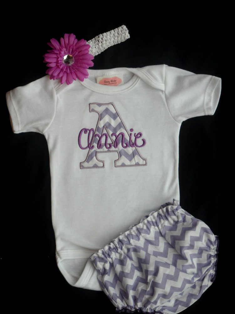 chevron personalized baby girl clothes newborn girl by sassylocks
