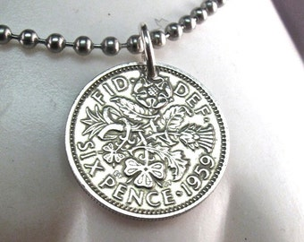 ENGLAND sixpence bracelet . coin bracelet. coin jewelry. Uk. wedding coin.  No.00756