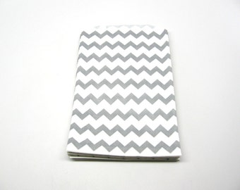 "Gray Chevron Bag, Gray Chevron Favor Bags, 5"" x 7.5"", Set of 10"