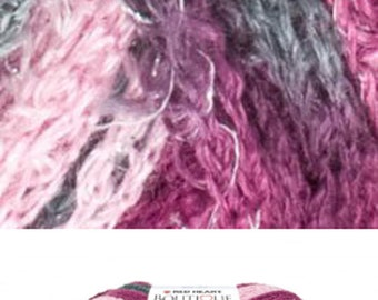 Boutique Sashay Yarn for Spiral ruffle women's scarf, trendy - Ballet