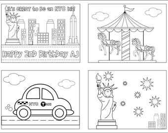 It's great to be a NYC kid coloring books