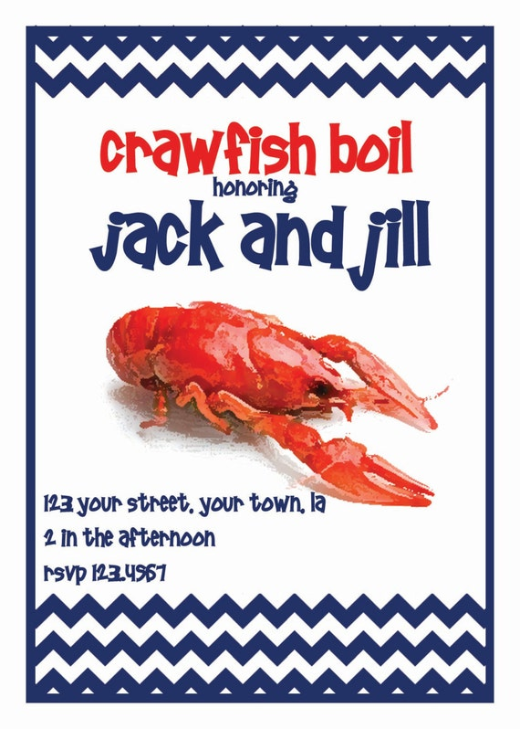 Crawfish Boil Invitation as beautiful invitation sample