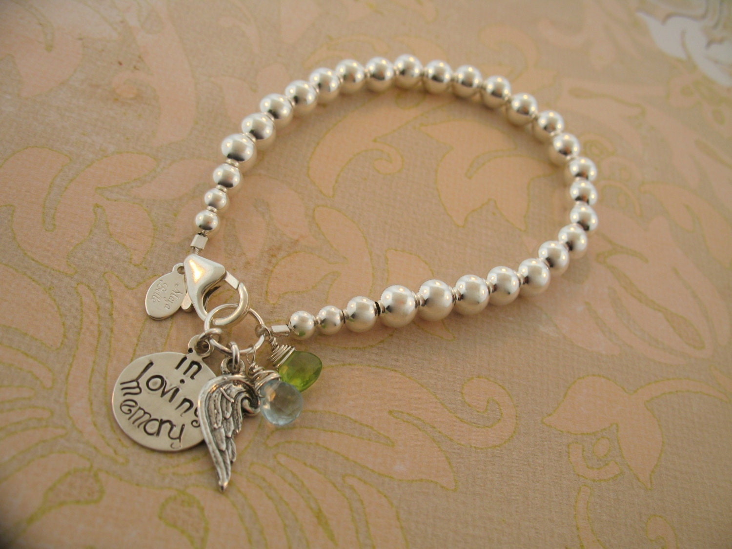 in loving memory jewelry in loving memory sterling silver wing bracelet 8155