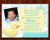NEW Rubber Duck Birthday Invitation printable digital file