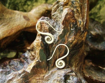 Spiral Silver Earrings - The Spiral of Life (2)