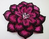 Clearance Sale Fuchsia Pink Magenta Flower Fascinator Swarovski Crystals Pearls Hot Pink Bridesmaid