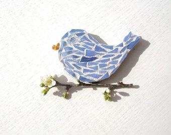 Mosaic Bird Magnet, fridge magnet, home decor accent, spring finds, gift for women, bird lover gift