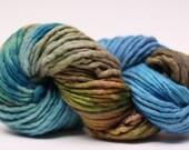 Single Ply sp Super Bulky Yarn  Hand dyed Merino 44sp13010 Stripey 04
