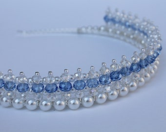 Something Blue Crystal Tiara