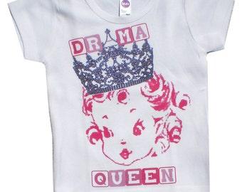 Vintage Childrens tshirt, tank...Drama Queen....