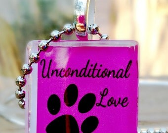 Unconditional Love Glass Tile Pendant