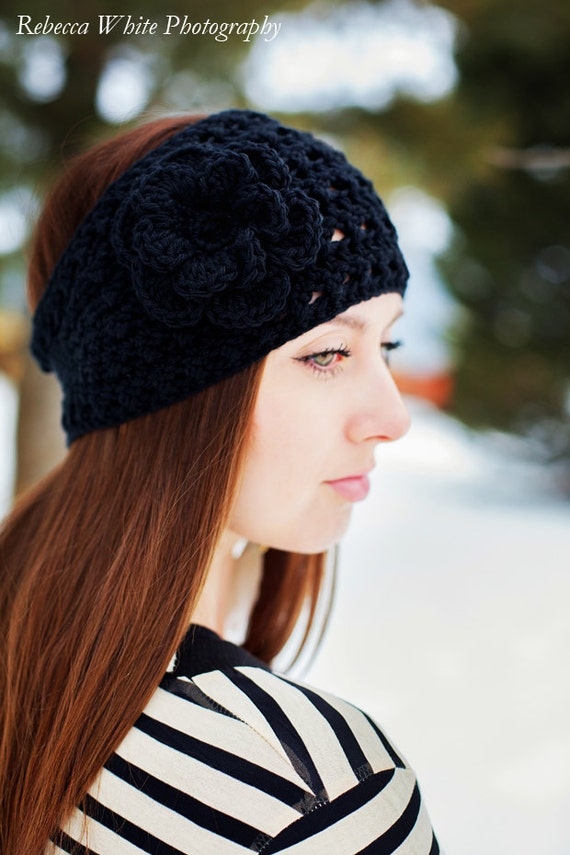 Instant Download - PDF PATTERN Crochet Anna Ski Headband Earwarmer  - Permission To Sell Finished Items