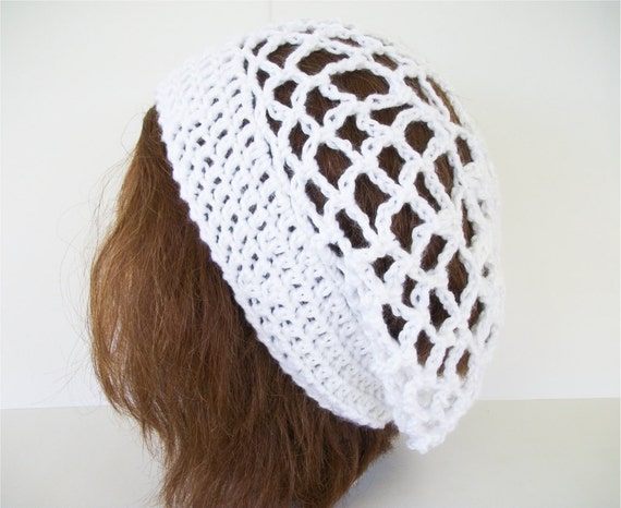 Crochet Pattern Lace And Flower Slouch Hat With Crochet Chart From