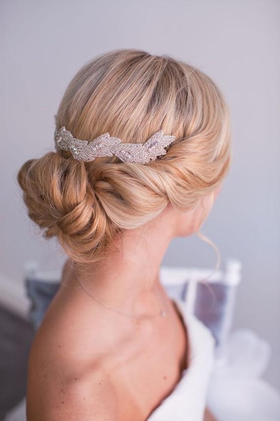 Jewell Hair: JEWELL Beaded Wedding Headpiece Hair Clip By