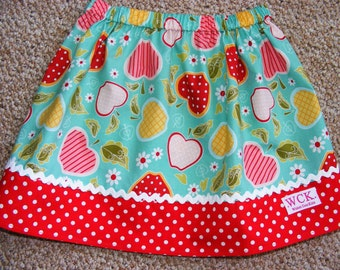 Riley Blake Apple of My Eye  Skirt ( 12 mos, 18 mos, 24 mos, 2T, 3T, 4t, 5, 6, 7)