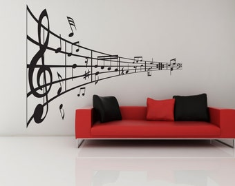 Music Note, Music Art, Music Decor, Music Wall Art, Music Wall Decal, Musical Notes, Band Decor, Choir Decor, Wall Decor, Home Wall Art