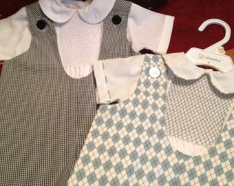 Boys Jumper and Hand Smocked Shirt 6 mo