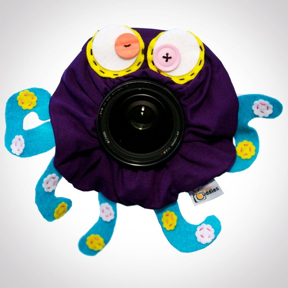 Shutter Buddies Oscar OCTOPUS with SQUEAKER camera lens prop- Ready to ship