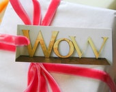 Set of 12 Gift Tags, Vintage Shop Front Letters