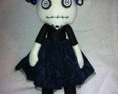 Creepy cute handmade wool felt doll
