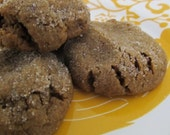 Spiced Ginger Soft Cookies with Flax Seeds