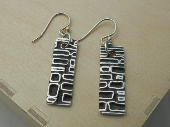 retro rectangle earrings